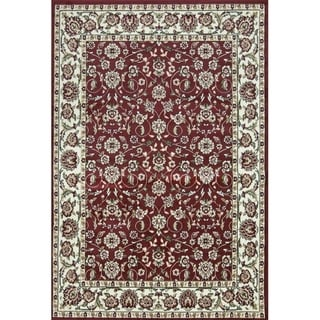 Sun Ray Outline Red Area Rug - 8' x 10'