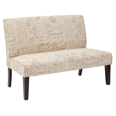 Copper Grove Masana Upholstered Loveseat with Gently Curved Back