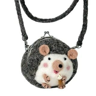 Handmade Critter Purse : Harper Hedgehog (Nepal)