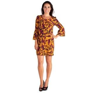 24/7 Comfort Apparel Long Sleeve Mini Sweater Dress