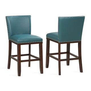 Toledo Peacock Counter Stool - Set of 2 by Greyson Living