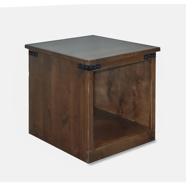 The Gray Barn Sycamore Rise Farmhouse Aged Whiskey End Table