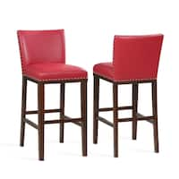 Toledo Red Bar Stool - Set of 2 by Greyson Living