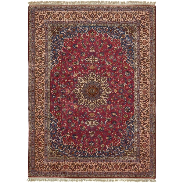 Hand Knotted Persian Isfahan Wool Area Rug: Shop Hand Knotted Isfahan Antique Silk & Wool Area Rug