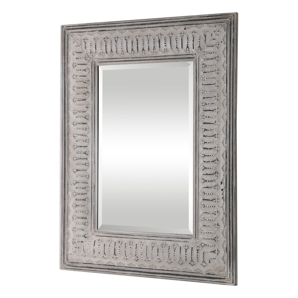 Uttermost Argenton Aged Grey Rectangle Mirror - Taupe - 30.75x40.125x1.25