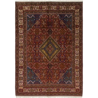 Hand Knotted Joshaghan Semi Antique Wool Area Rug - 7' 7 x 11'