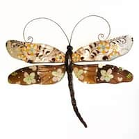 Handmade Dragonfly Brown Flower
