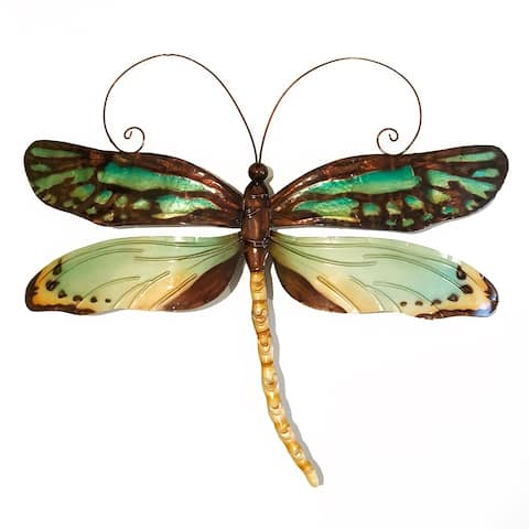 Handmade Dragonfly Aqua And Gold