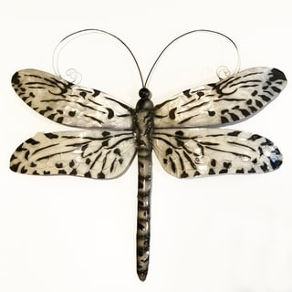 Handmade Black and White Dragonfly (Philippines)