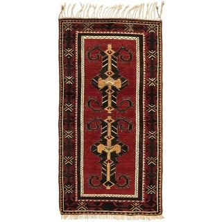Hand Knotted Kars Wool Area Rug - 3' 4 x 6' 8