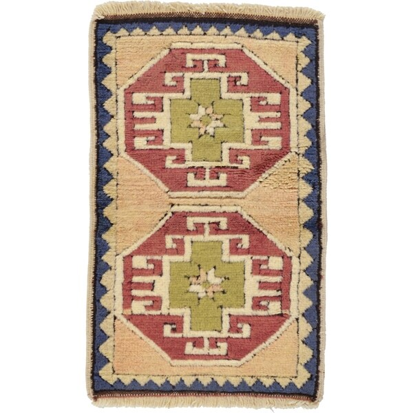Shop Hand Knotted Kars Wool Area Rug - 1' 9 x 2' 10 - On