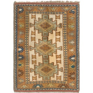 Hand Knotted Kars Semi Antique Wool Area Rug - 4' x 6'