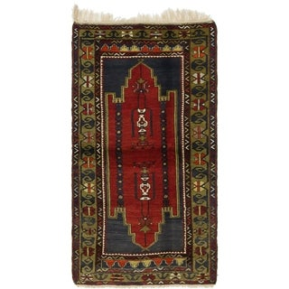 Hand Knotted Kars Semi Antique Wool Area Rug - 4' 5 x 8'