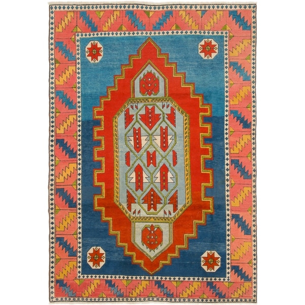 Shop Hand Knotted Kars Semi Antique Wool Area Rug - 7' 6 x