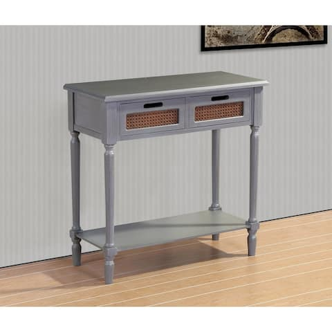 Best Quality Furniture Grey French Country Console Table