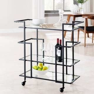 Carbon Loft Meadmore Art Deco Bar Cart