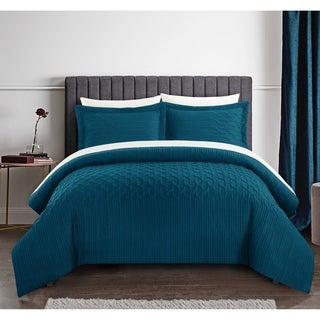 Chic Home Jas 3 Piece Comforter Set Embossed Quilted Vine Pattern
