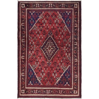 Hand Knotted Joshaghan Semi Antique Wool Area Rug - 4' 4 x 7'