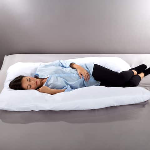 Body Pillow- 7 in 1 Jumbo Pillow with Removeable Cover Lavish Home