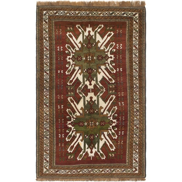 Shop Hand Knotted Kars Semi Antique Wool Area Rug - 5' 10 x