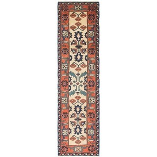 Hand Knotted Kars Semi Antique Wool Runner Rug - 2' 7 x 10' 7