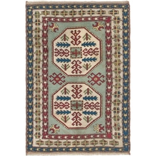 Hand Knotted Kars Semi Antique Wool Area Rug - 4' x 5' 10