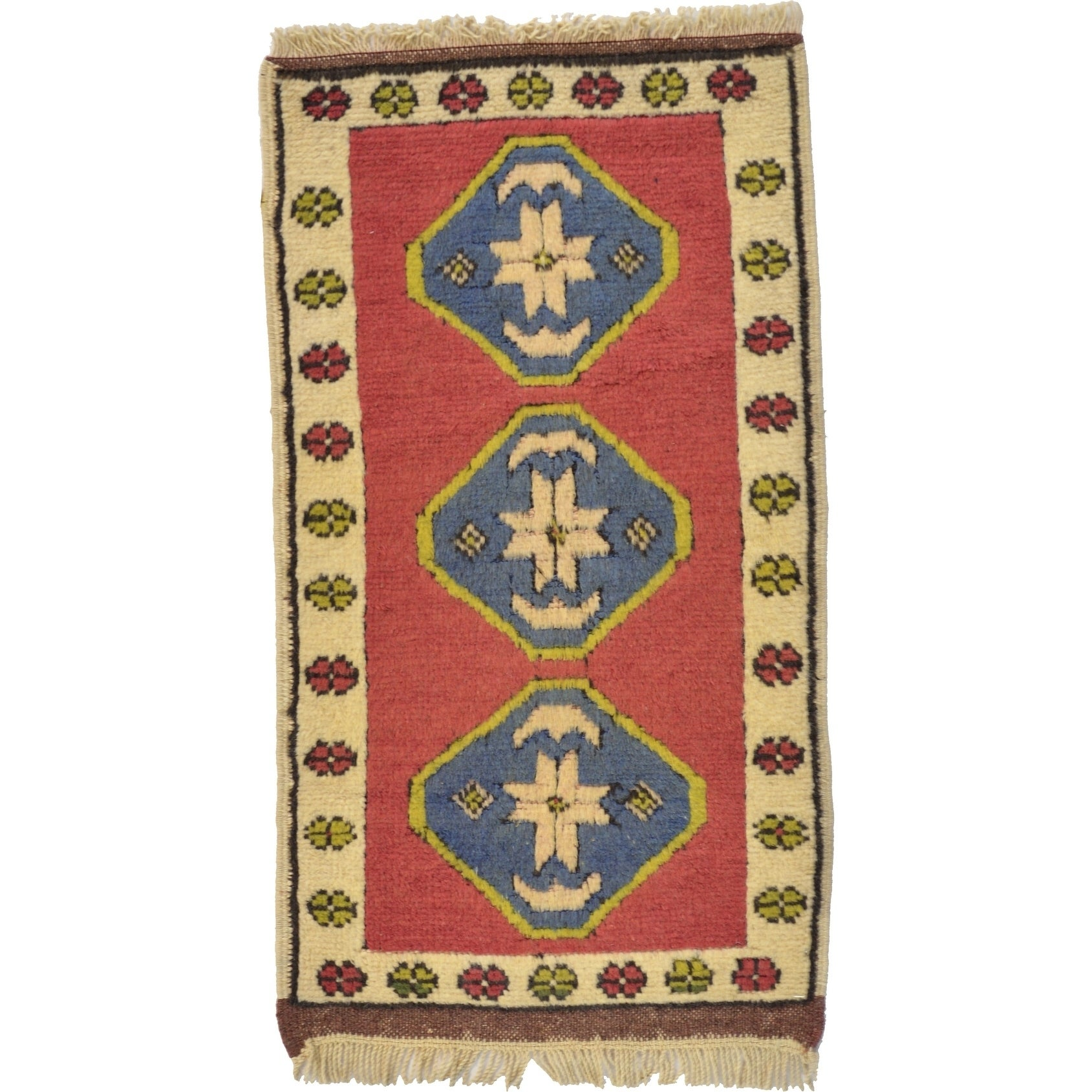 Hand Knotted Kars Wool Area Rug - 1' 9 x 3' 2 (Red - 1' 9 x 3' 2)