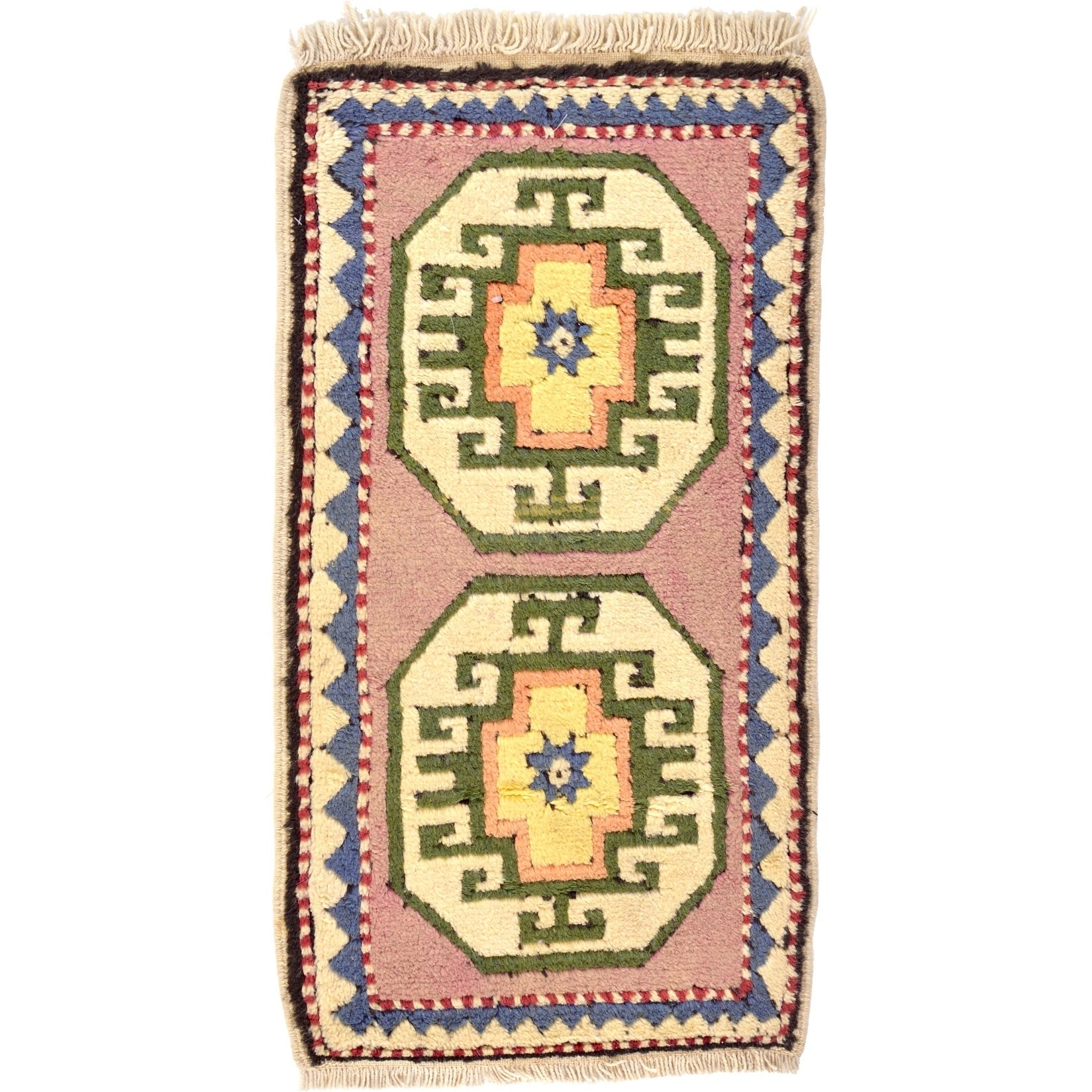 Hand Knotted Kars Wool Area Rug - 1' 9 x 3' 2 (puce - 1' 9 x 3' 2)