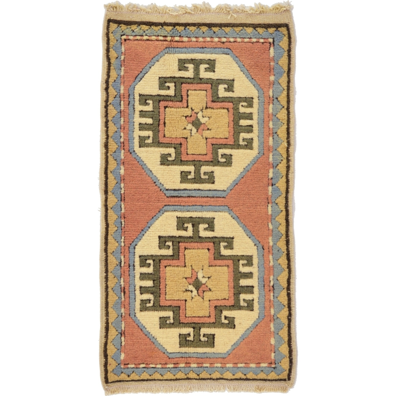 Hand Knotted Kars Wool Area Rug - 1' 9 x 3' 3 (puce - 1' 9 x 3' 3)