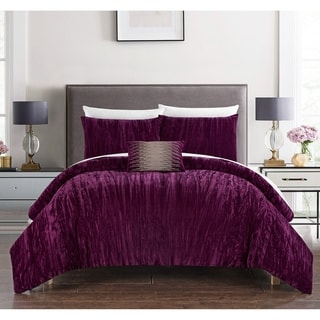 Shop Chic Home Kerk 4 Piece Comforter Set Crinkle Crushed