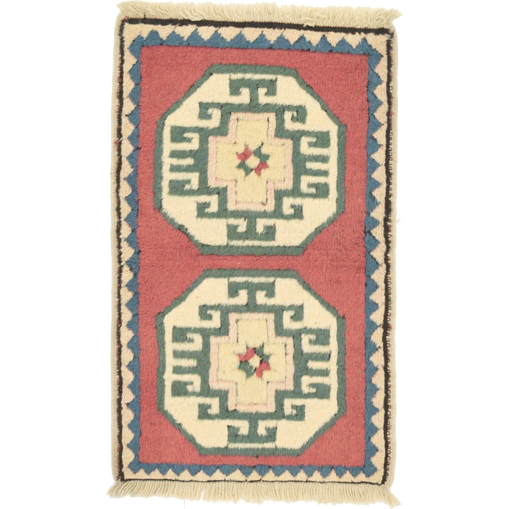 Hand Knotted Kars Wool Area Rug - 1' 10 x 3' (Red - 1' 10 x 3')