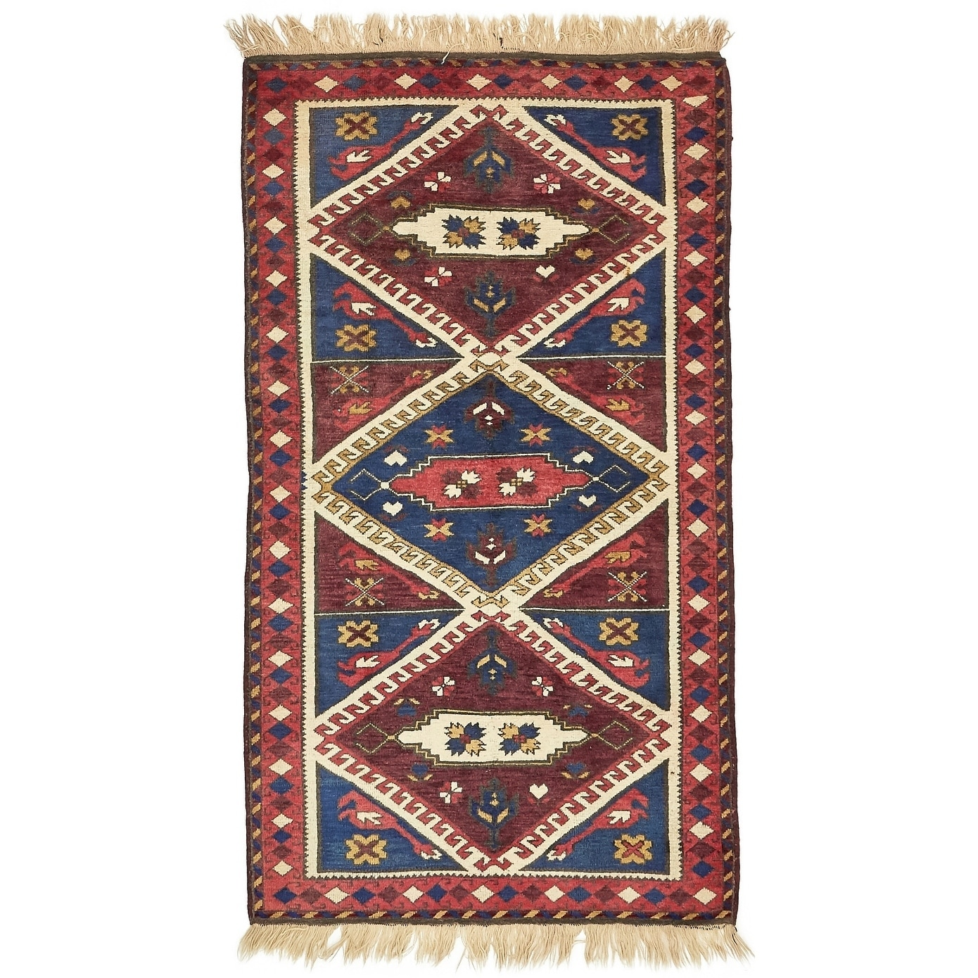 Hand Knotted Kars Wool Area Rug - 3 7 x 6 5 (Red - 3 7 x 6 5)