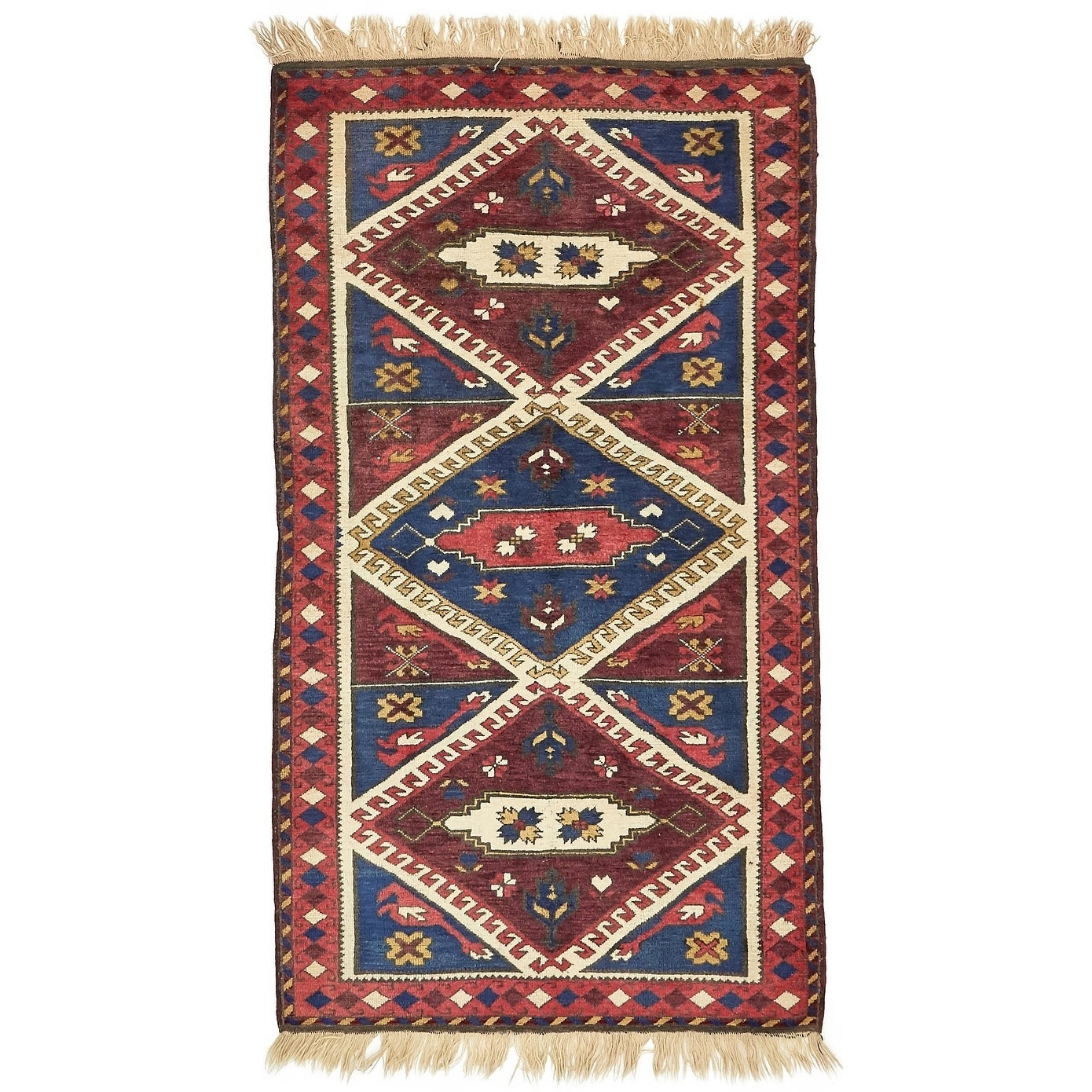 Hand Knotted Kars Wool Area Rug - 3' 7 x 6' 5 (Red - 3' 7 x 6' 5)