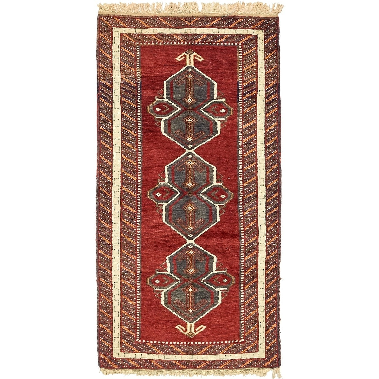 Hand Knotted Kars Wool Area Rug - 3' 2 x 6' 4 (Red - 3' 2 x 6' 4)