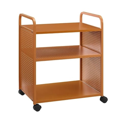 Novogratz Aubrie 3 Shelf Rolling Cart