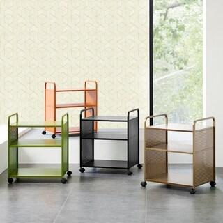 Novogratz Aubrie 3 Shelf Rolling Cart