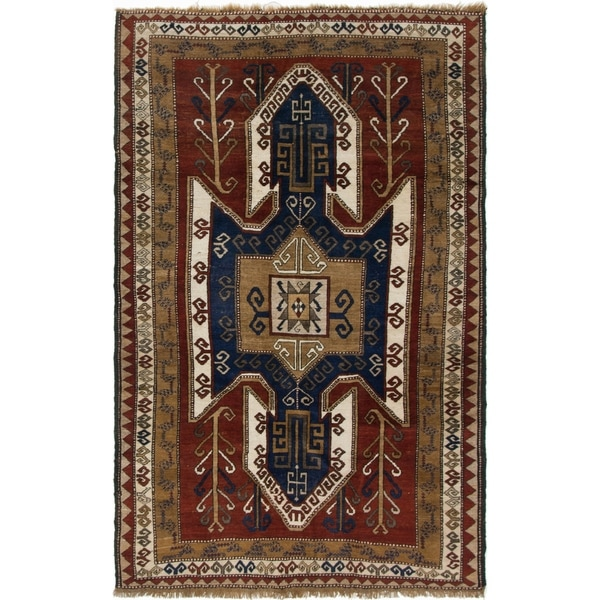 Shop Hand Knotted Kars Semi Antique Wool Area Rug - 5' 1 x 8
