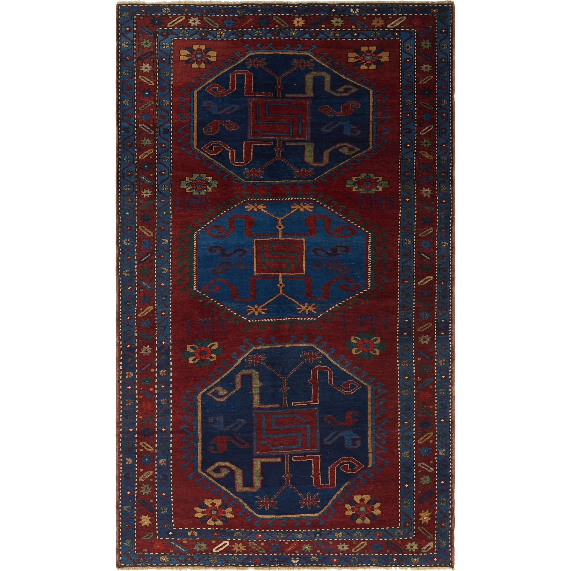 Hand Knotted Kars Wool Area Rug - 5' 4 x 9' 2 (Red - 5' 4 x 9' 2)
