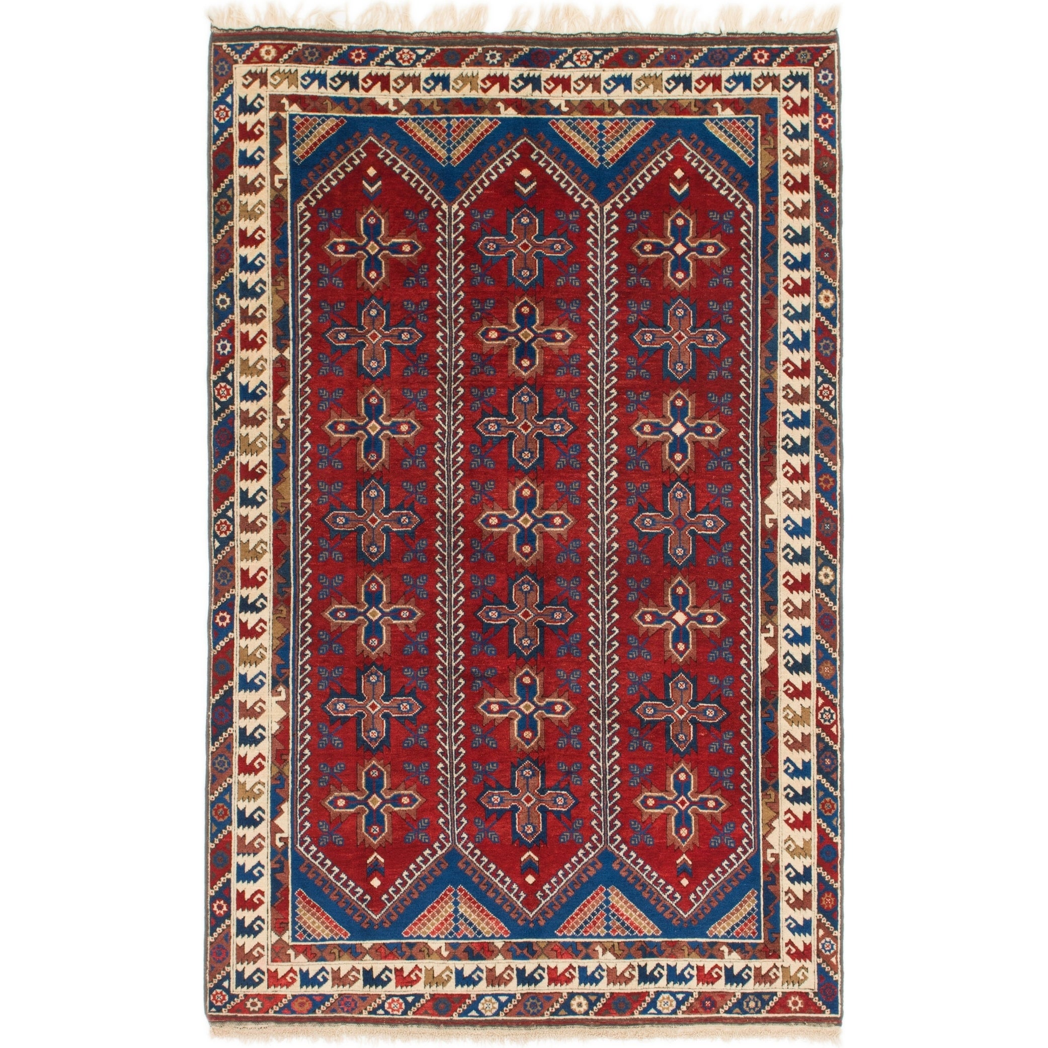 Hand Knotted Kars Wool Area Rug - 6 3 x 9 7 (Red - 6 3 x 9 7)