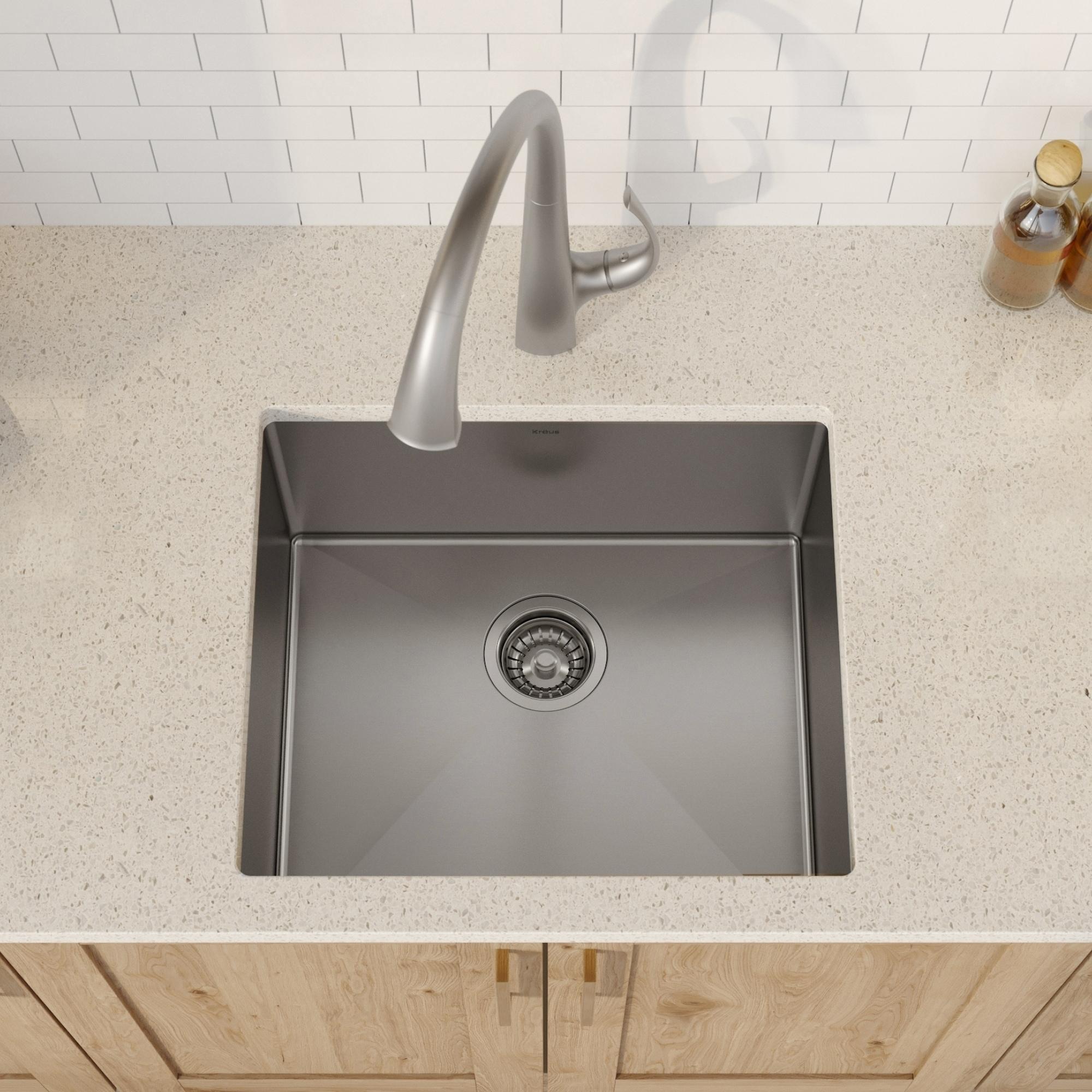 Kraus KHU101-21 Undermount 21 inch 1-Bowl Stainless Steel Kitchen Sink