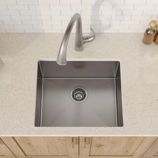 KRAUS KHU101-21 Undermount 21 in. 1-Bowl Stainless Steel Kitchen Sink
