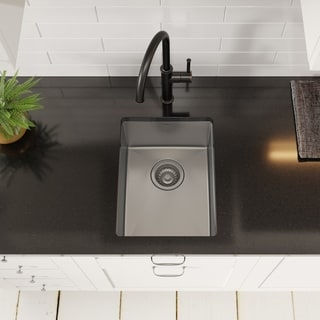 Kraus KHU101-14 Undermount 14 inch 1-Bowl Stainless Steel Kitchen Sink