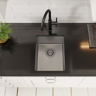 KRAUS KHU101-14 Undermount 14 in. 1-Bowl Stainless Steel Kitchen Sink