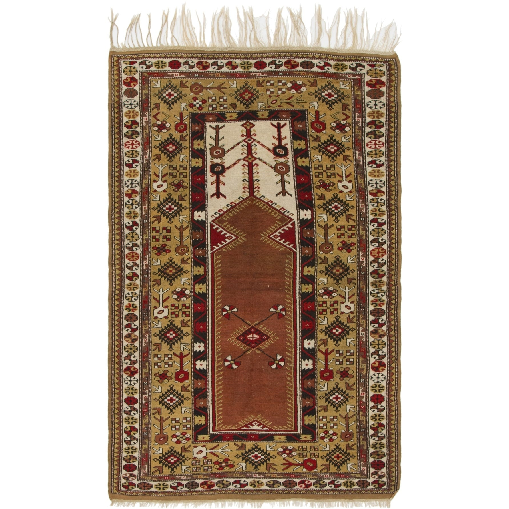 Hand Knotted Kars Wool Area Rug - 4 4 x 7 (Beige - 4 4 x 7)