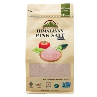Himalayan Chef Pouch Fine Grains Pure pink Salt, 2 lbs