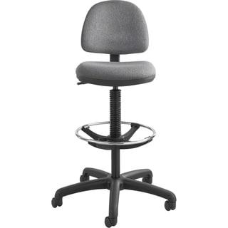 Lorell Black and Grey Mesh-back Armless Task Chair