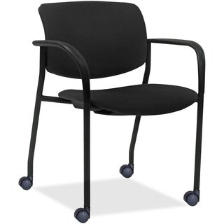 Lorell Steel/Fabric Stacking Chair (Set of 2)