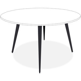 """Lorell Round Conference Table, f/ 42""""/48"""" Tops, 35""""x35""""x28-1/2"""", BK"""