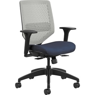 Lorell Mesh Back/Fabric Seat Blue Task Chair