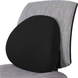 "Lorell Ergo Fabric Lumbar Back Support - 15""x4-1/2""x13-1/8"", Black"